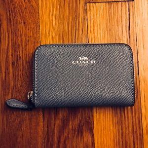 Coach baby blue card case zip